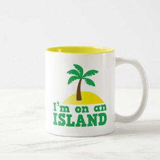 Estoy en una isla taza