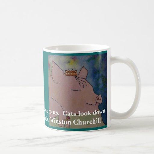 Estoy encariñado con cerdos. Cita de Winston Churc Tazas De Café
