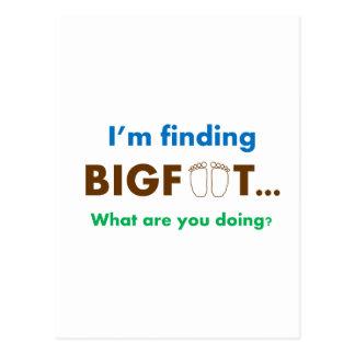 Estoy encontrando Bigfoot.  ¿Qué usted está Postal