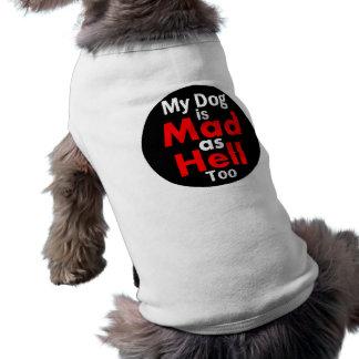 Estoy enojado como ropa del mascota del infierno playera sin mangas para perro