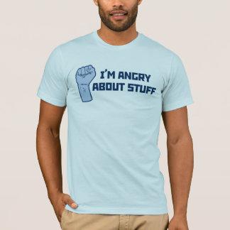 Estoy enojado sobre la camiseta de la materia
