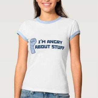Estoy enojado sobre la camiseta de la materia remeras