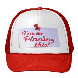 Estoy fijando tan este gorra del camionero (rojo)