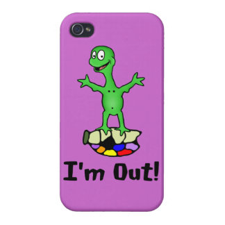 Estoy hacia fuera tortuga iPhone 4 fundas