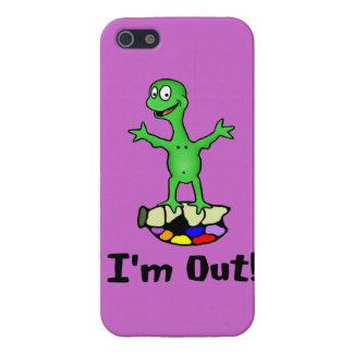 Estoy hacia fuera tortuga iPhone 5 carcasas