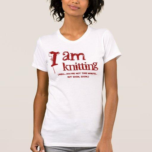 Estoy haciendo punto camiseta