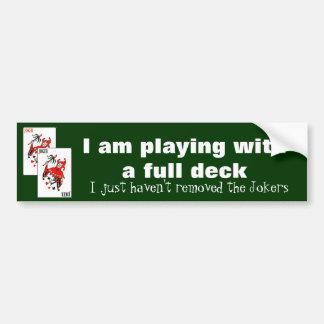 Estoy jugando con una cubierta llena etiqueta de parachoque