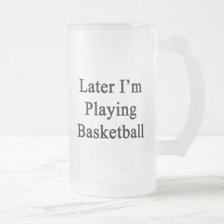 Estoy jugando más adelante a baloncesto taza de café