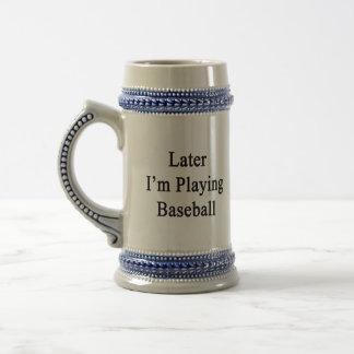 Estoy jugando más adelante a béisbol tazas de café