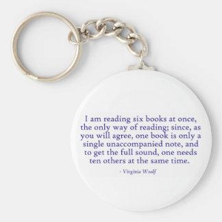 Estoy leyendo seis libros inmediatamente llaveros personalizados