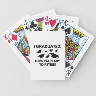 Estoy listo ahora para retirarse baraja cartas de poker