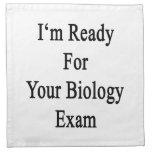 Estoy listo para su examen de la biología servilleta de papel