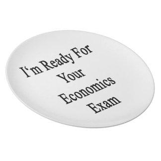 Estoy listo para su examen de la economía