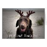 ¡Estoy listo, Rudolph! Tarjetón