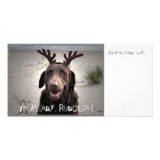 Estoy listo tarjeta personal con foto