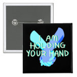 Estoy llevando a cabo su mano (v.4) por Britt Pin Cuadrado