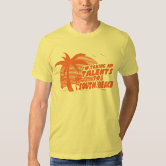 Estoy llevando mis talentos la camiseta del sur de playeras