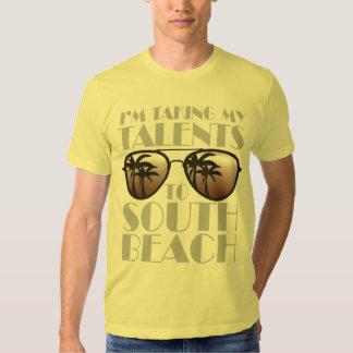 Estoy llevando mis talentos la camiseta del sur de poleras