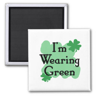 Estoy llevando verde imán cuadrado
