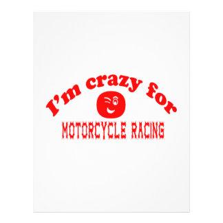 Estoy loco para competir con de la motocicleta membrete a diseño