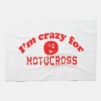 Estoy loco para el motocrós toallas de mano