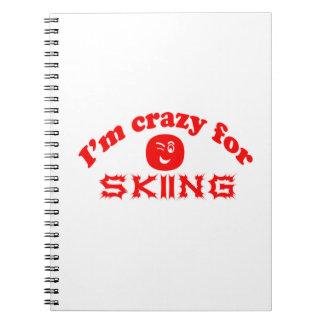 Estoy loco para esquiar libretas