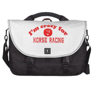Estoy loco para la carrera de caballos bolsas de portátil