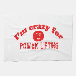Estoy loco para la elevación del poder toalla