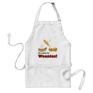 ¡Estoy loco para los Weenies! Perrito caliente del Delantal