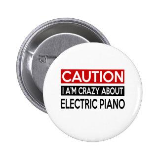 Estoy LOCO POR PIANO ELÉCTRICO Pin Redondo 5 Cm