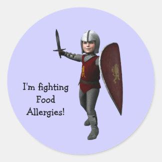 ¡Estoy luchando las alergias alimentarias! Pegatina Redonda