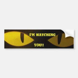¡Estoy mirando, usted!! Etiqueta De Parachoque