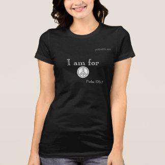 Estoy para el símbolo de paz de gotGod316.com de l Camisetas