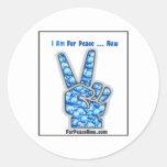 ¡Estoy para la paz - ahora! Pegatina