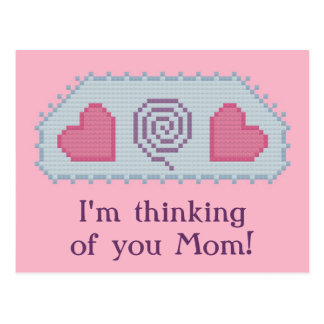 ¡Estoy pensando en usted mamá! Espiral de los cora Postal