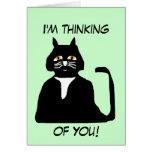 Estoy pensando en usted tarjeta del gato