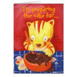 ¡Estoy preparando la torta para… su cumpleaños! Tarjeta De Felicitación