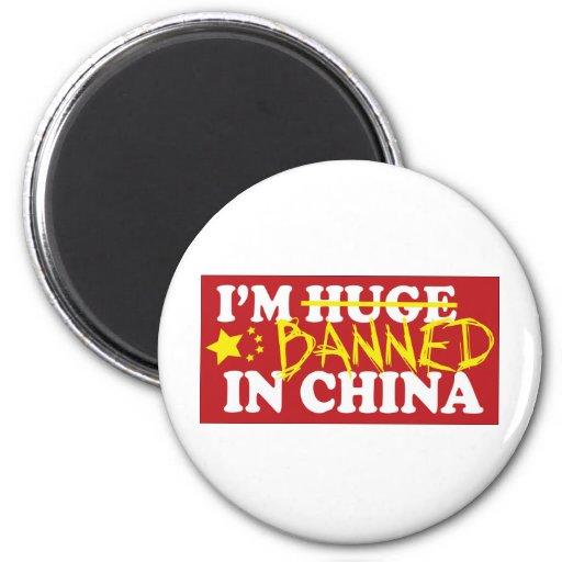 Estoy prohibido en China Imán De Frigorifico