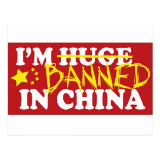 Estoy prohibido en China Tarjeta Postal