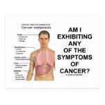 ¿Estoy que exhibe síntomas de cáncer? Postales