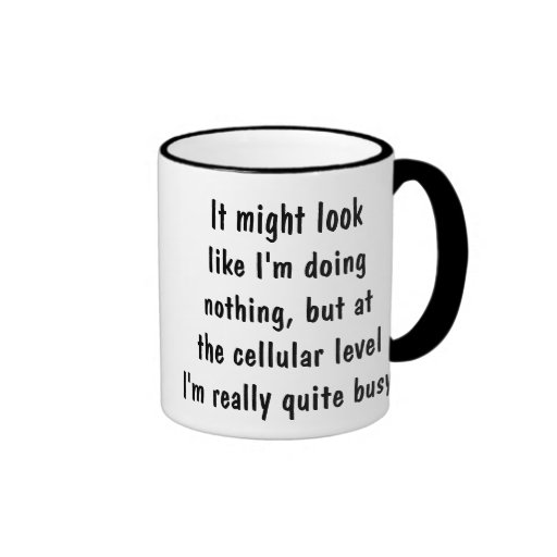 Estoy realmente muy ocupado taza de café