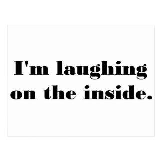 Estoy riendo en el interior postales
