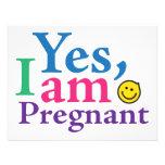 Estoy sí embarazada anuncio personalizado