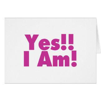 Estoy sí tarjeta de felicitación