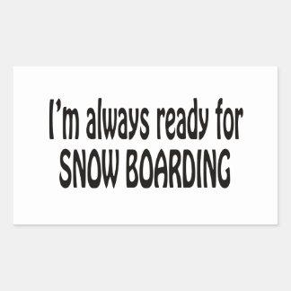 Estoy siempre listo para el embarque de la nieve rectangular altavoz