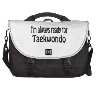 Estoy siempre listo para el Taekwondo Bolsas De Portátil