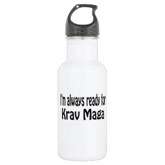 Estoy siempre listo para Krav Maga.