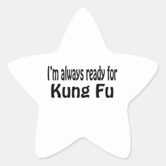 Estoy siempre listo para Kung Fu Pegatina Forma De Estrella Personalizadas