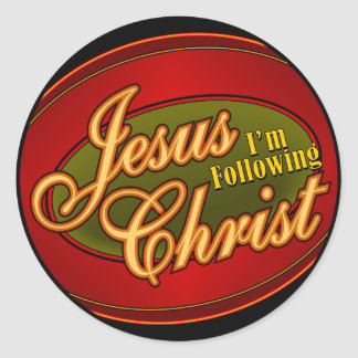 Estoy siguiendo Jesucristo Pegatina Redonda