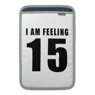 Estoy sintiendo 15 diseños del cumpleaños fundas macbook air